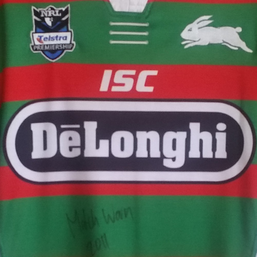 South Sydney Rabbitohs 2011 Away Jersey – Chris McQueen signed