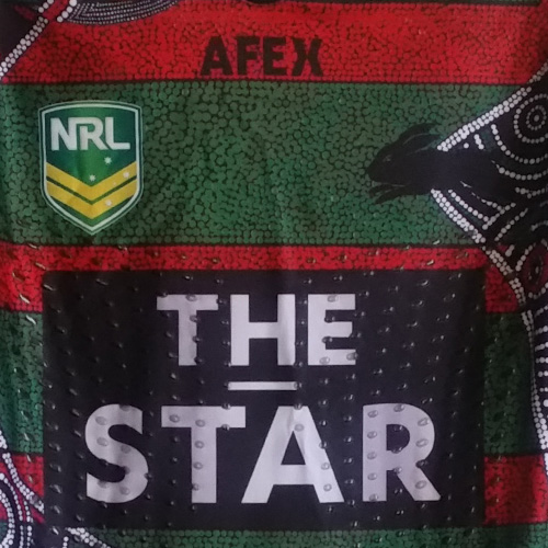 South Sydney Rabbitohs 2013 indigenous jersey- George Burgess
