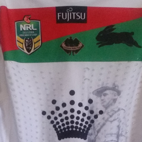 South Sydney Rabbitohs 2015 ANZAC jersey- Jason Clark
