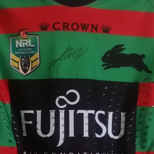 South Sydney Rabbitohs 2015 Fujitsu Home jersey- Aaron Gray