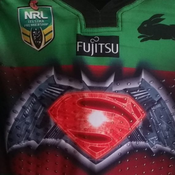 South Sydney Rabbitohs 2016 Superman vs Batman jersey Cody Walker