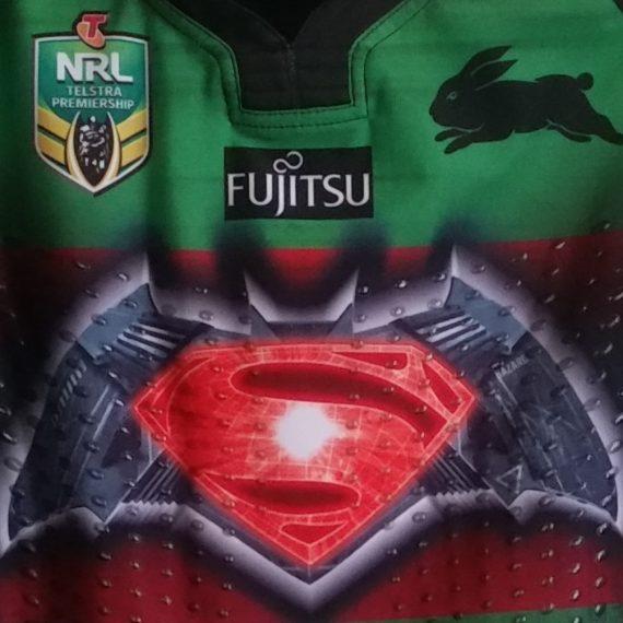 South Sydney Rabbitohs 2016 Superman vs Batman jersey -Hymel Hunt