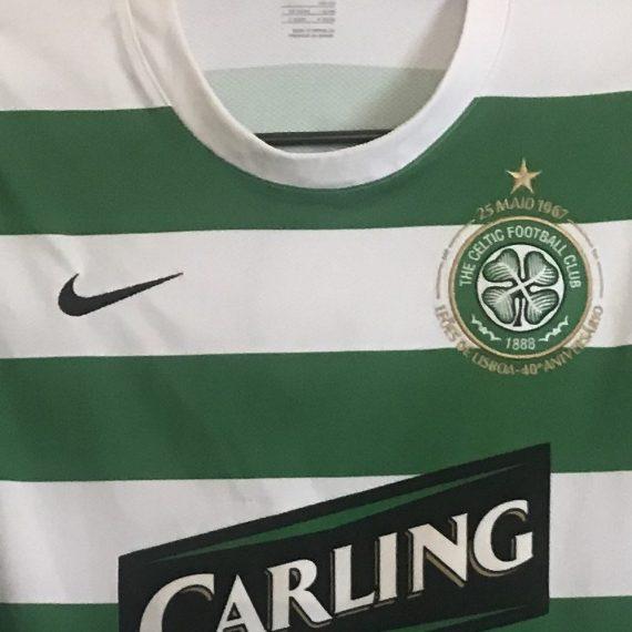 2007 Celtic Match Worn Home Shirt McDonald #27 (v FC Basel) July 5th 2008