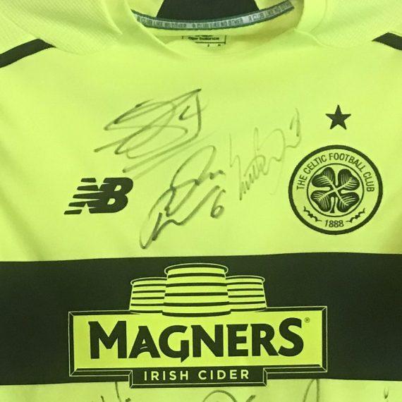Celtic FC Match Worn Shirt Mackay Steven vs Ajax Europa League Group Stages