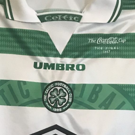 Celtic FC 1997 Scottish League Cup Final Shirt – Stephane Mahe