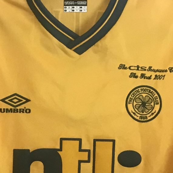 Celtic FC CIS Insurance League Cup 2001 Mjallby shirt