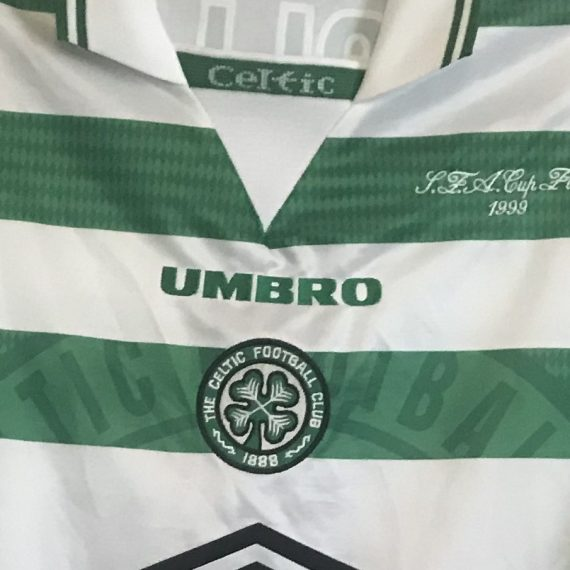 Celtic Scottish Cup Final 1999 Mjallby shirt