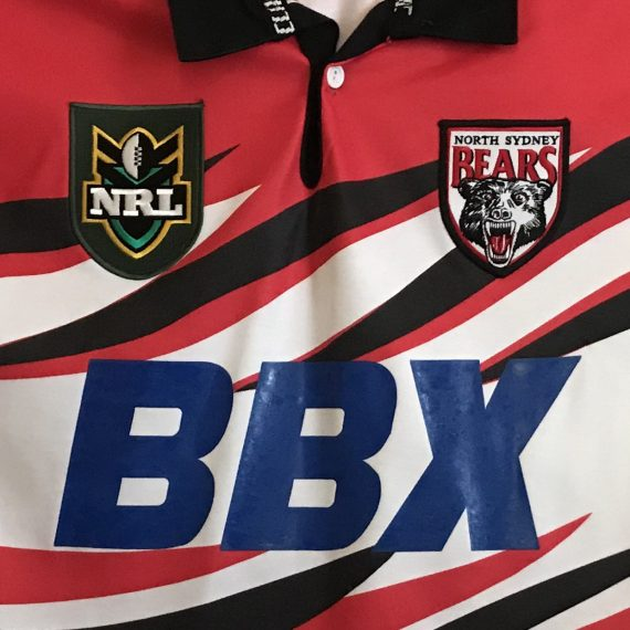 North Sydney Bears 1998 Claw-flame Alt