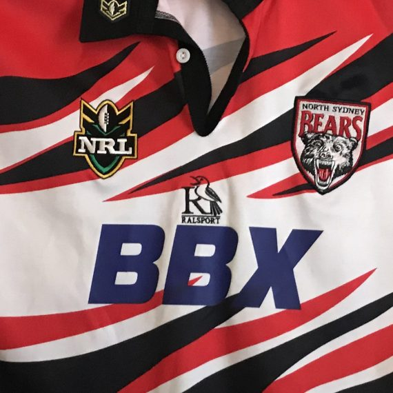 North Sydney Bears 1999 Claw-flame Alt