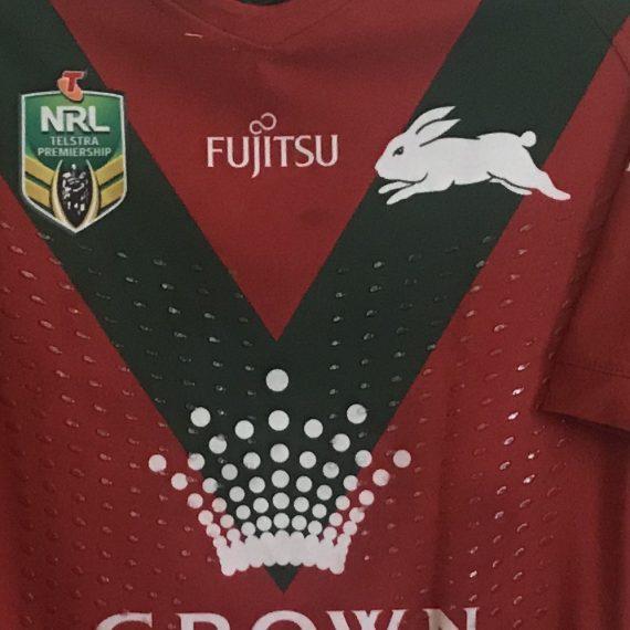 South Sydney Rabbitohs 2018 Match Worn Jersey Alternate vs Canberra Greg Inglis