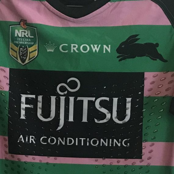 South Sydney Rabbitohs 2018 Women In League Match Worn Jersey – Hymel Hunt