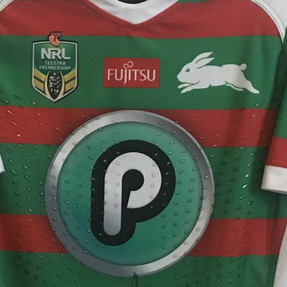South Sydney Rabbitohs 2018 Alternate match worn jersey – Hymel Hunt