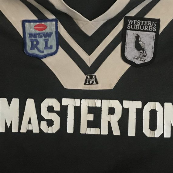 Western Suburbs Magpies 1989 Jersey
