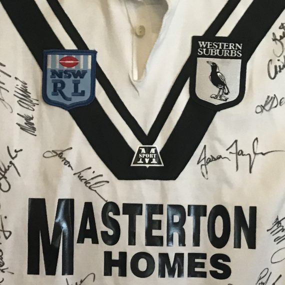 Western Suburbs Magpies 1992 Jersey