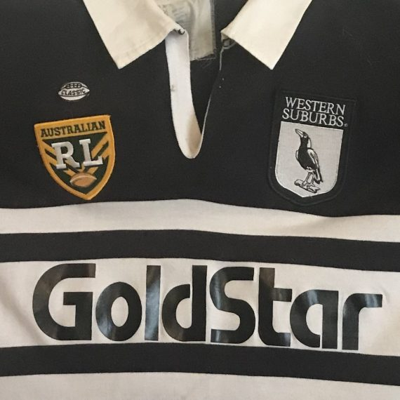 Western Suburbs Magpies 1995 Heritage Jersey