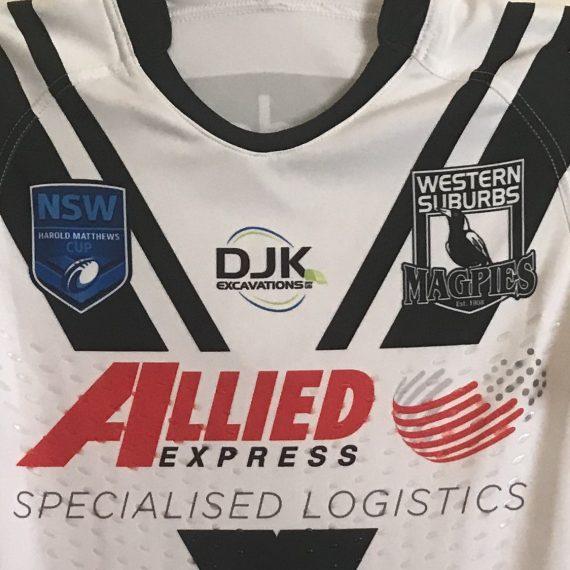 Western Suburbs Magpies 2016 Harold Matts jersey