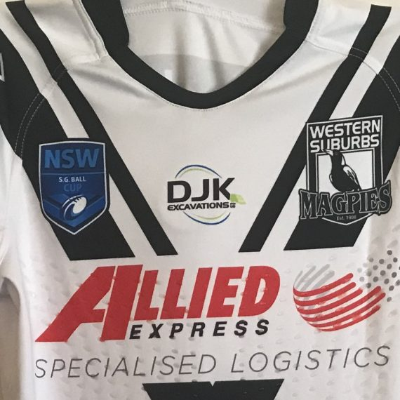 Western Suburbs Magpies 2017 SG Ball jersey