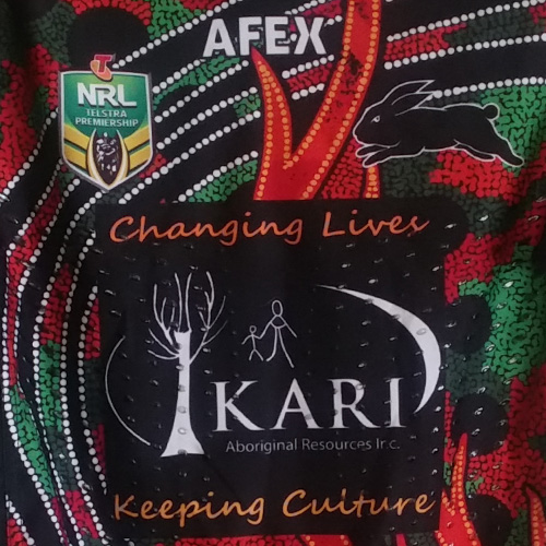 South Sydney Rabbitohs 2014 Indigenous jersey- Tom Burgess