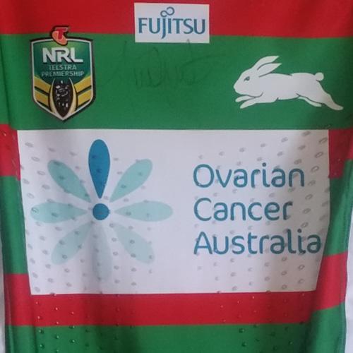 South Sydney Rabbitohs 2015 OCA jersey – Tim Grant signed