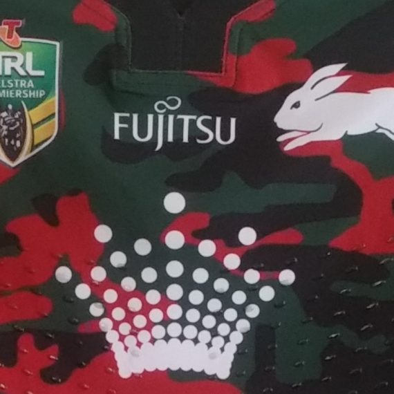 South Sydney Rabbitohs 2017 Hymel Hunt Match Worn ANZAC Round Jersey