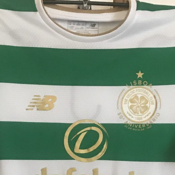 Celtic FC Bitton Match Worn shirt vs Astana Champions League