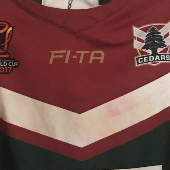 Lebanon Rugby League World Cup 2017 Jersey – Tim Mannah